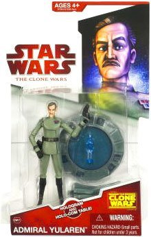 (Hasbro Star Wars Clone Wars Animated Action Figure Admiral Yularen)