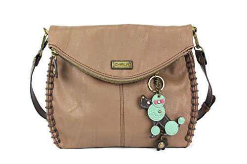 CHALA Charming Crossbody Bag - Mini Poodle Brown