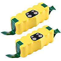 Replacement Irobot Roomba 595 650 655 Battery,R3 500 600 700 800 900 Series,Advanced 14.4v Ni-Mh 3500mAh Batteries 551 540 630 770 780 870 980(2-Packs)