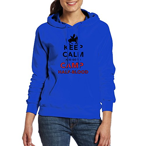 QTHOO Women's Long Sleeve Keep Calm and Go To Camp Half Blood Hooded Sweatshirt With Pocket by QTHOO