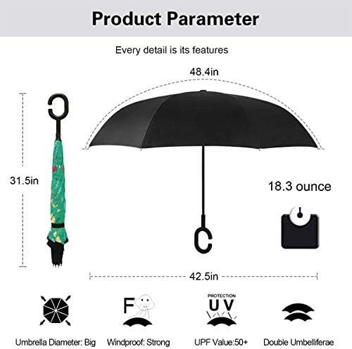 スプリングブリーズグリーン 逆さ傘 逆折り式傘 車用傘 耐風 撥水 遮光遮熱 大きい 手離れC型手元 梅雨 紫外線対策 晴雨兼用 ビジネス用 車用 UVカット