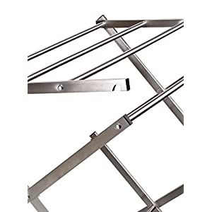 Household Essentials Folding X-Frame Clothes Dryer, Stainless Steel