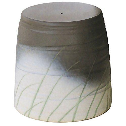 信楽焼 信楽BEST SELECTION 青銅なびき草スツール(全高36cm×全幅36cm) B075PPJJ4X