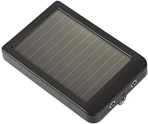 ACAMPTAR Energ/ía Externa del Cargador del Panel Solar al Aire Libre para la C/áMara de Caza Hc300 Hc500 Hc700 Enchufe de la UE
