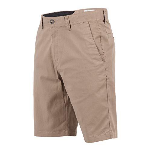 Volcom Men's Frickin Modern Stretch Chino Short, Dark Khaki, 30 - Volcom Tights