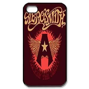 JS-2 Music Band aerosmitha Black Print Hard Shell Case for iPhone 4/iPhone 4S