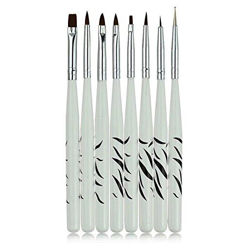 8Pcs/Set DIY Pinceau Nail Art Brushes Professional Nail Art Design Painting Drawing Pen Brush Tool Nail Polish UV Gel Brush