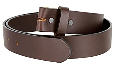 "Leather Cowhide Belt Blank Strap Made in the USA - 1-3/8"" Wide"