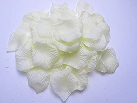 1000 Ivory Silk Rose Petals Confetti Anniversary Party Wedding Party Decorations