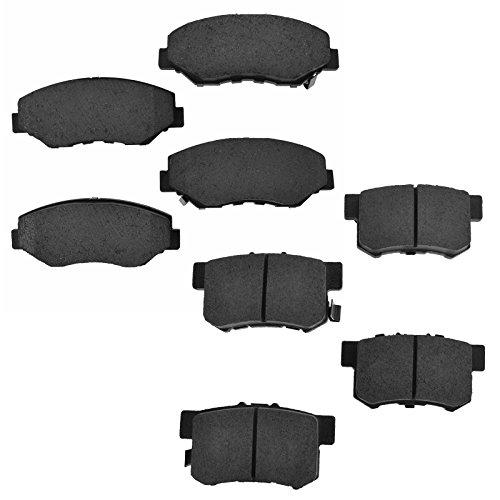 (Front & Rear Premium Posi Ceramic Brake Pad Set Kit for Honda CR-V CRV)