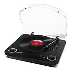 """Listen, Connect, Convert. Max LP is a simple all-in-one turntable that makes it easy to enjoy your records and convert them to digital music files on your computer. With Max LP, transferring your 33 1/3, 45, and 78 RPM records to a Mac or PC..."