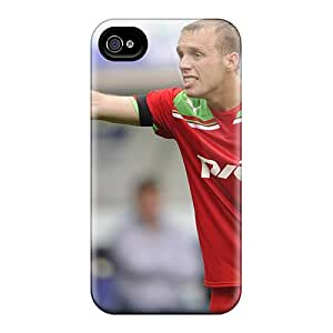 Excellent Iphone 4/4s Case Tpu Cover Back Skin Protector Denis Glushakov Former Player Locomotive