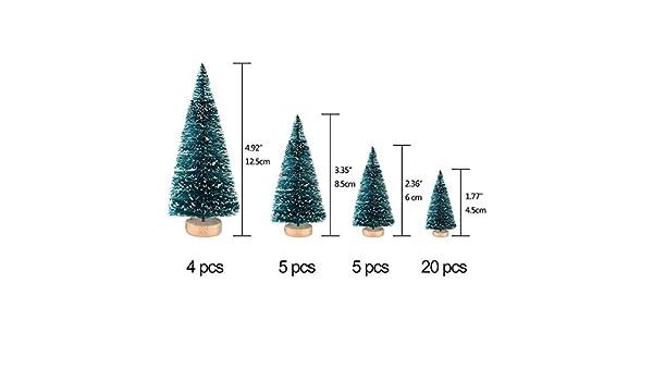 34 Unids Mini Sisal Snow Frost Árboles Botella Cepillo Árboles De Plástico Invierno Adornos de Nieve Árboles de Mesa para DIY Decoración de la Habitación ...