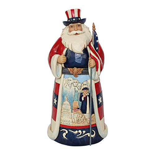 - Enesco Jim Shore Heartwood Creek America Santa Around The World Figurine, 7.1