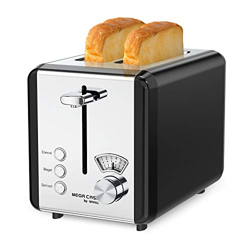 Toasters 2 Slice Best Rated Prime, whall Stainless Steel,Bagel Toaster – 6 Bread Shade Settings,Bagel/Defrost/Cancel…