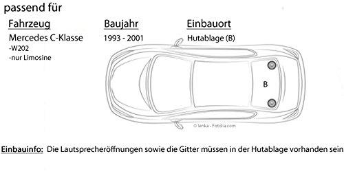 Mercedes Clase C W202 estante - JBL gx602 | altavoz coaxial de 2 Vías, 16 cm - Set de la instalación: Amazon.es: Electrónica