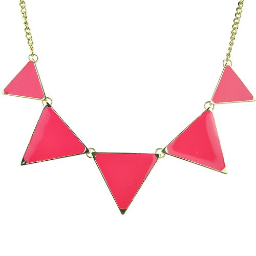 Jane Stone Fashion Necklace Rosy Bubble Bib Necklace Triangle Statement Necklace (Vintage Costumes Jewelry Necklaces)