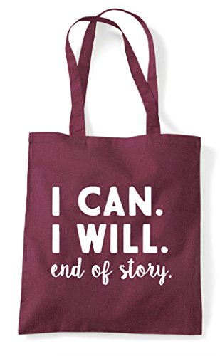 Shopper Burgundy Bag Story End Tote Will Can I Of Statement fxO4q8FPnw