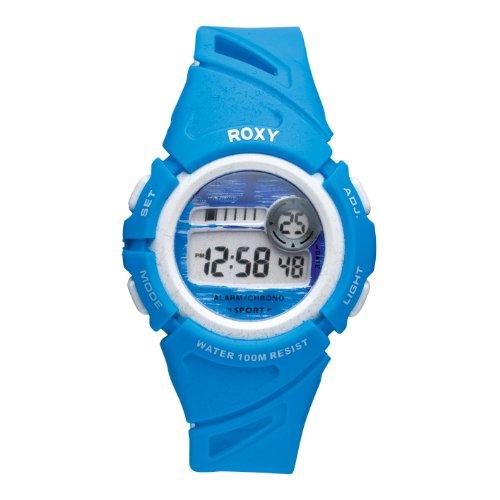 Roxy W001DR 12T - Reloj digital de mujer de cuarzo con correa de plástico azul (