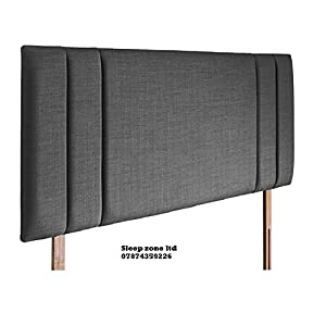 mm08enn new side bar bed headboard in linen fabric available in and sizes (4ft6 double, Beige)