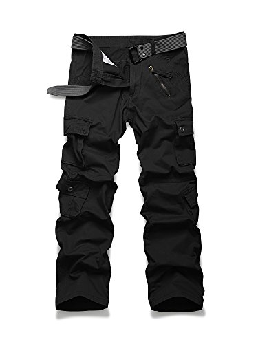 Jessie Kidden Men's Loose Cotton Cargo Pants with 9 pockets #7533
