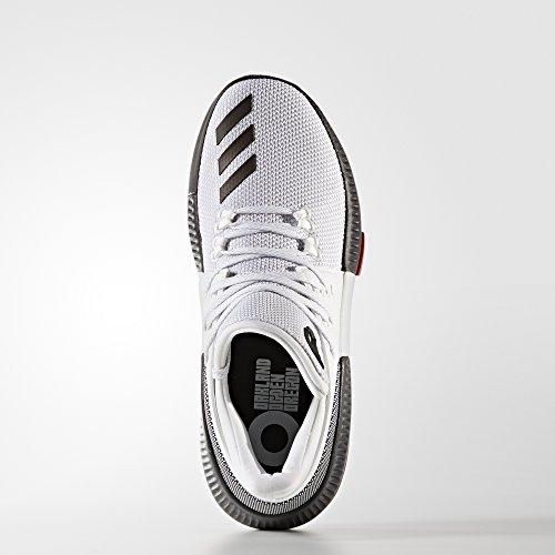 adidas D Lillard 3 J - Zapatillas deportivaspara niños, Blanco - (FTWBLA/NEGBAS/ESCARL), -3