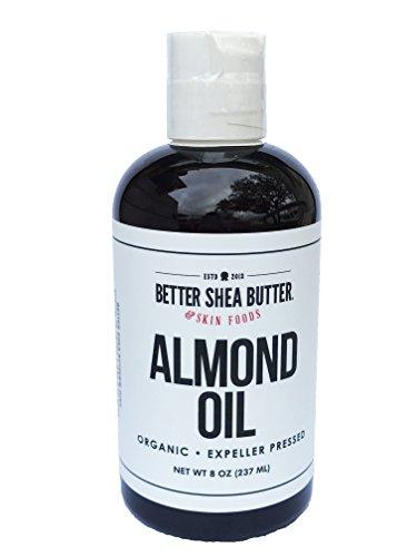 Organic Almond Oil by Better Shea Butter - 8 oz - Shea Butter Sweet Almond