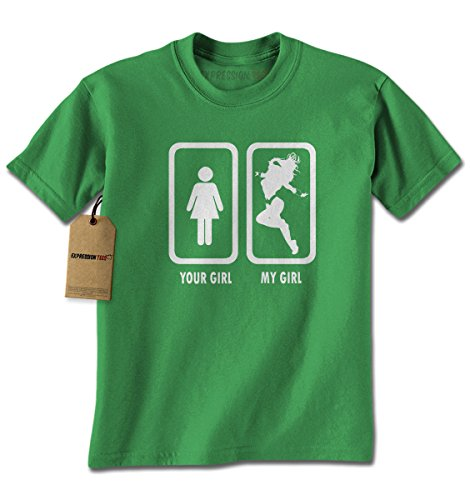 Expression Tees Mens Your Girl My Girl T-Shirt XX-Large Kelly (Hero Basic S/s Shirt)