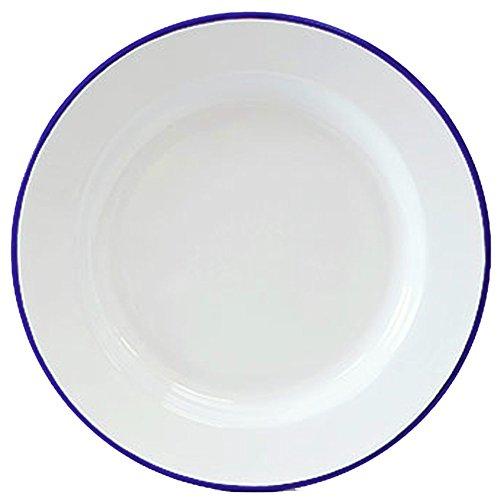 Enamelware Dinner Plate -Solid White with Blue Rim  sc 1 st  Amazon.com & Tin Plates: Amazon.com
