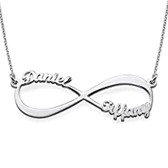 """Infinity Name Necklace:       Our Infinity Name Necklace provides the best way for you to show off what the word """"forever"""" means to you.        You can get up to two names or words on each loop of the infinity symbol.        This is th..."""