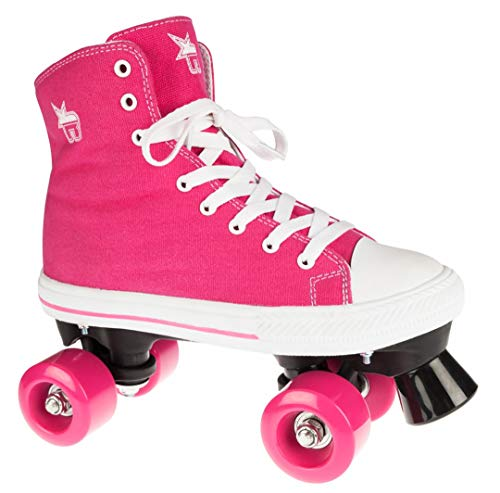 Rookie Canvas High Roller Skates with 4Wheels, Unisex Children, Canvas High, pink, 36.5 (Rookie Canvas)