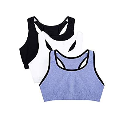 Fruit of the Loom Women's Built-Up Sports Bra (Pack of 3) at Women's Clothing store