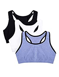 Fruit of the Loom Womens Standard Built-up Sports Bra 3 Pack