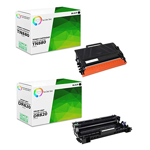 TCT Premium Compatible Toner Cartridge and Drum Unit Replacement for Brother TN-880 DR-820 Works with Brother HL-L6200DW L6300DW L6400DWT, MFC-L6700DW L6800DW Printers (1 TN880, 1 DR820) - 3 Pack