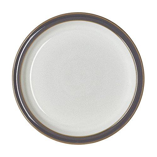 Denby USA Blends Truffle/Canvas Dinner Plate, Brown/Cream
