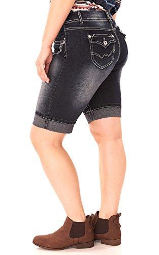 hot sale 2017 Angels Jeans Juniors Plus Size Denim Cuffed Bermuda ...