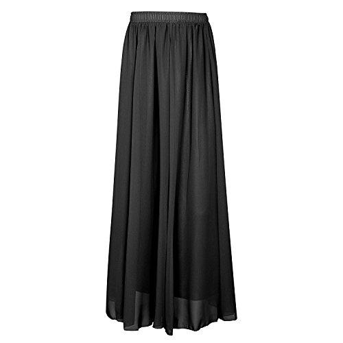 Elastic d't Femme longue Jupe Jupe 90cm Chiffon CoutureBridal Noir Ceinture x7XqHgFqw