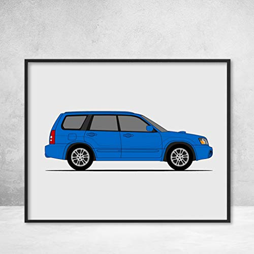 Subaru Forester SG5 (2002-2007) Poster Print Wall Art for sale  Delivered anywhere in Canada