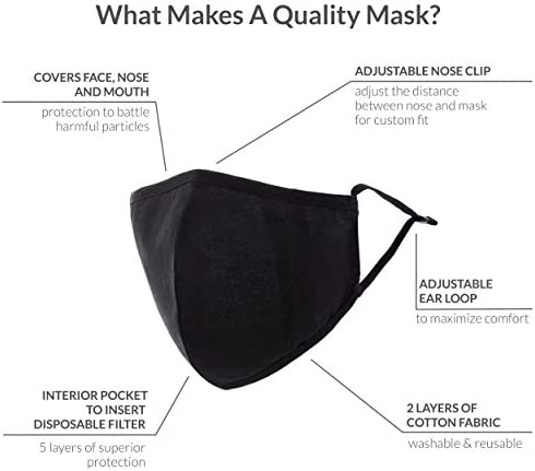 Weddingstar Washable Cloth Face Mask Reusable and Adjustable Protective Fabric Face Cover w/Dust Filter Pocket - Orange