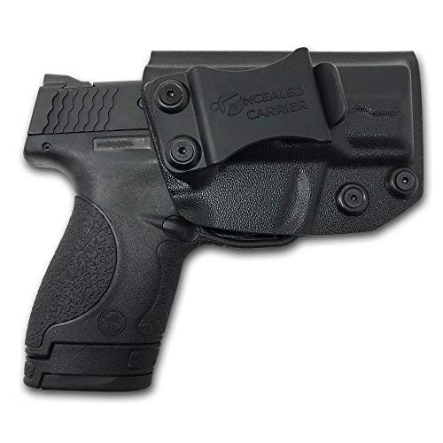 Concealed Carrier (TM) IWB Holster Smith & Wesson M&P Shield 9MM/.40 S&W - Veteran Owned Company - Inside Waistband Concealed Carry Holster for Pistol Gun