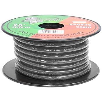 Amazon.com: Pyramid RPR8100 8 Gauge Power Wire 100 feet OFC (Clear ...