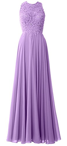 Dress Gown Evening Wedding Women Lavender Lace Formal Macloth Long Prom Party Sleeveless Ffqgp7x4