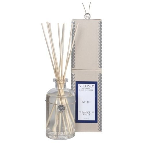 2 Pack Votivo Clean Crisp White #19 Aromatic Reed Diffusers by Clean Crisp White