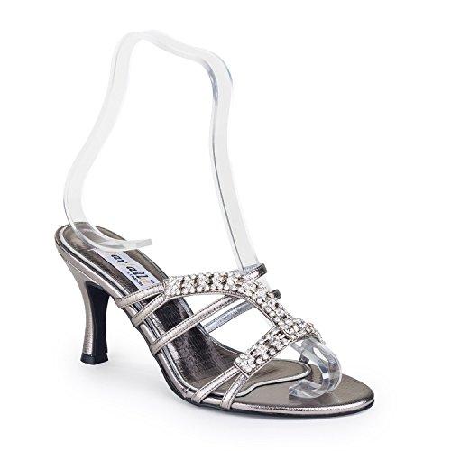 Farfalla Sintético Para Vestir Sandalias De Material Gris Mujer rwx4rzqXI