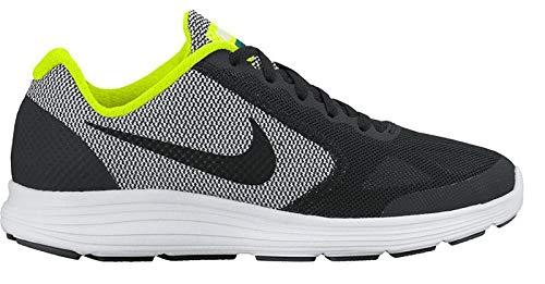 Nike Kid's Revolution 3 (GS) Boy's Running Shoe (5.5 Big Kid M, Black/Volt Noir/White) (Nike Boys Size Shoes 3)