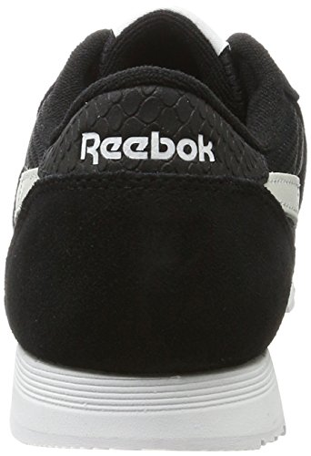 White Reebok Flash Electric Fbt Black Trainers Black Nylon Women's Classic Blue n4qa0