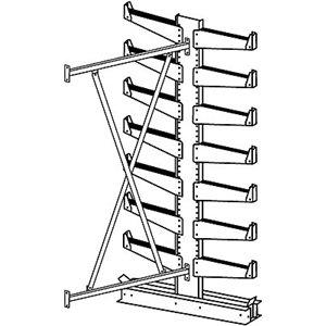 Jarke Quiktree Light-Industrial Grade Cantilever Rack - 72X34x84