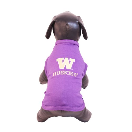 NCAA Washington Huskies Cotton Lycra Dog Tank Top, Large