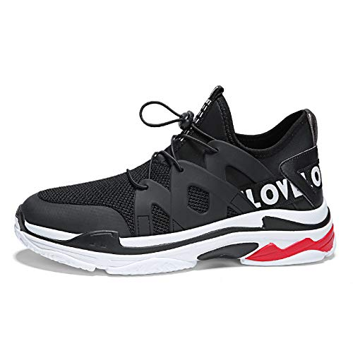 Na-Zh Herren Turnschuhe Casual Schuhe Men's Casual New Trend Bequeme und atmungsaktive Herren Laufschuhe, schwarz   21,39