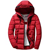 FANOUD Mens Solid Color Pullover Long Sleeve Hooded Tops Blouse Slim Coat